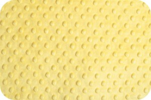 MINKY SHANNON FABRIC - YELLOW (ŻÓŁTY)